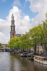 The Westertoren of the Westerkerk (Recovering Oversaturator) Tags: annefrank westertoren westerkerk prinsengracht jordaan amsterdam dutch netherlands westerkerkbelltower