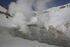 Volcanology 101: Steam and Snow (Sergei Golyshev (reloaded :)) Tags: volcano volcanic activity steam snow vent geology geothermal landscape mutnovsky kamchatcka russia nature        fumarole        cliff mountains