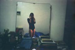 (Erica Pozza) Tags: portrait woman house selfportrait black film girl 35mm mirror casa donna body olympus bodysuit ritratto nero ragazza specchio selfie pellicola