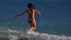 Charge! (Ctuna8162) Tags: woman sun beach hawaii sand pretty waikiki oahu bikini honolulu