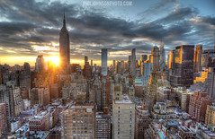Manhattan at Sunset (PhilJohnsonPhoto) Tags: new york city nyc sunset landscape cityscape rooftops manhattan midtown philjohnsonphoto