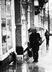 snow5jpeg (matthewheptinstall) Tags: street city winter urban snow weather umbrella town wakefield impressionist westyorkshire