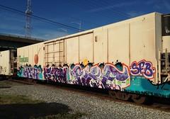 HAEN  FERN  PIKE (notalocal) Tags: fern train bench graffiti pike freight tropicana sfb haen