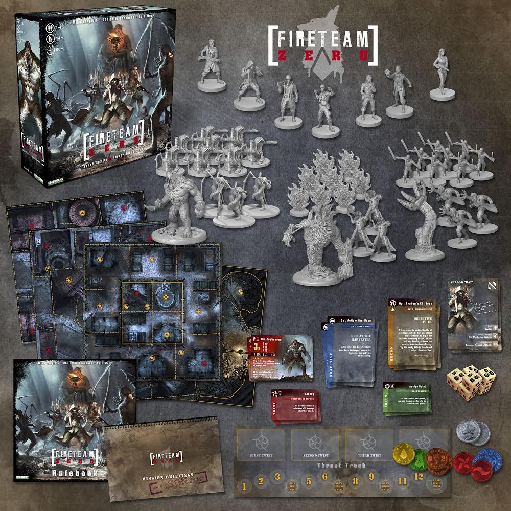 Vue d'ensemble du matériel - Kickstarter Fireteam Zero