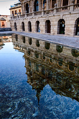 Narcissus town hall (Aresio) Tags: reflection water mirror town hall spain toledo