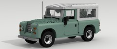 Land Rover Series (large scale) (LegoGuyTom) Tags: road city classic scale digital vintage power lego offroad 4x4 diesel britain pov designer great large 4wd rover off 1940s 1950s legos download land series british 1960s 1970s 1980s dropbox povray roader offroader ldd