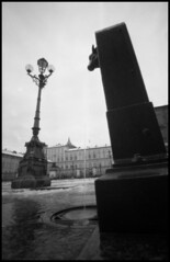 fountain and lamp (Roberto Messina photography) Tags: bw italy analog hc110 pinhole fim analogue february zeroimage zero69 2015 dilb