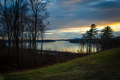 Wilderstein golden sky (Hendricks_NY) Tags: camera trees sunset sky ny newyork nature water grass clouds river landscape evening landscapes december glow unitedstates magic year upstate valley hour hudson mansion month rhinebeck 2014 wilderstein d5100 nikond5100