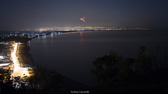 Etna arrabbiata. (andreamutencarveni) Tags: blue sea sky italy night landscape volcano mare angry syracuse sicily fotografia etna montagna sicilia