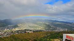 Rainbow Danger (Edmund Garman) Tags: rain weather hawaii rainbow waikiki oahu head diamond diamondhead hi honolulu edmund garman crator d7000