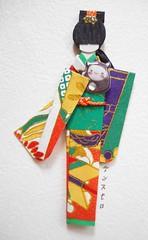 All-purpose card 21_close-up of doll (tengds) Tags: blue orange green purple cream card kimono obi ochre papercraft japanesepaper washi ningyo handmadecard chiyogami yuzenwashi japanesepaperdoll washidoll origamidoll tengds allpurposecard