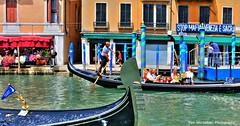 paddle faster gondola man (Rex Montalban Photography) Tags: venice italy europe hdr nikond600 rexmontalbanphotography