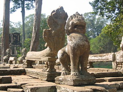 Lion Statue in Siem Reap