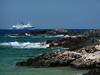 Blue Star ferry off the Paros coast P1020022 (mygreecetravelblog) Tags: sea seascape ferry landscape island coast ship greece coastline greekislands seashore paros cyclades parosgreece aegeansea bluestarferry greekislandferry