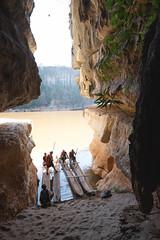 Lakana Boats from inside the cave.