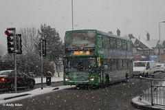 Nottingham 951 YN08MLE (Andy4014) Tags: nottingham snow bus scania nottinghamcitytransport yn08mle