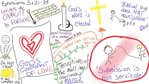Sermon Sketchnote of Ephesians 5:21-33 by Wesley Fryer, on Flickr