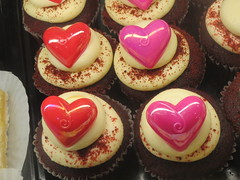 Valentines Heart Cupcakes (shaire productions) Tags: red holiday love dessert heart image chocolate picture romance cupcake photograph sweets valentines imagery