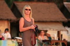 Woman in the sunset (Beek2012) Tags: sunset woman canon thailand asia khaolak smrgsbord canoneos5dmarkiii canonef703004056lisusm