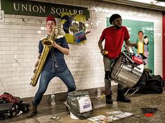 Too Many Zooz (Street Photo NYC) Tags: street nyc music ny newyork streets subway nikon artist manhattan band performer sax saxophone streetband d600 toomanyzooz