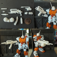 1/144th Modular Beam Rifle - Now Available! (OrangeKNight) Tags: rock 3d cool parts awesome rifle beam modular printing custom build gundam mecha mech expansion gunpla shapeways