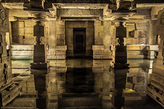 Underground Shiva Temple - Hampi, India (Kartik Kumar S) Tags: travel india heritage history water canon underground unesco worldheritagesite adventure temples submerged shiva karnataka incredible hampi relections shivatemple 600d krishnadevaraya