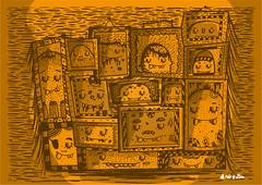Monsters (Andreaga) Tags: music cute art texture peru colors monster festival illustration poster lima cartoon draw waste dibujo ilustracion characterdesign childrenillustration mostrito tdcc andreaga fosterthepeople andreagalecio
