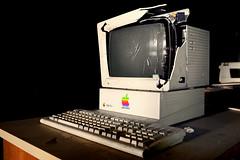 iSmash ([jonrev]) Tags: school windows 2 abandoned apple broken computer high keyboard personal error jobs steve system monitor gimme ii plus mann smashed 95 doorframe horace aframe mainframe wasadick