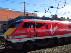 Virgin East Coast (New Livery) 91105 At Doncaster (Gary Chatterton 3 million Views Thank You All) Tags: flickr railway trains exploreinterestingness locomotives doncaster virgintrains eastcoastmainline 91105 virgingroup virgineastcoast