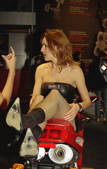 motorshow model (themax2) Tags: 2001 legs boots bologna hostess pantyhose motorshow