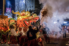 Exhale (feidoy) Tags: new white dance san francisco chinatown dragon sheep dancing fireworks crane year breath chinese lion goat dragons parade route finale ram firecrackers the ktvu leungs 2015