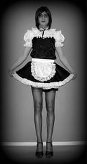 Doily Dolly - Chaste Sissy Maid (Nikki_E-CD) Tags: stockings panties french tv nikki lace cd sissy transvestite dolly maid crossdress doily frenchmaid chaste sissymaid