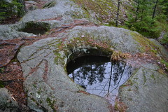 Potholes formed during the Ice Age (Pirttimki recreation area, Espoo, 20111127) (RainoL) Tags: november autumn rock espoo finland geotagged u fin nuuksio pothole uusimaa nyland 2011 esbo pirttimki 201111 20111127 geo:lat=6026178500 geo:lon=2461670000