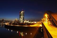 EZB Skyline Frankfurt Night (jetlag6000) Tags: skyline night frankfurt ecb ezb osthafen