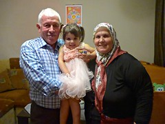 Future grandparents and granddaughter (ali eminov) Tags: children engagement women bulgaria celebrations grandparents generations celebrate muslimwomen headscarves aytos burin aitos