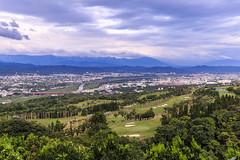 鳥瞰高爾夫球場 (Eric-Chang Taiwan) Tags: trees ball river 南投 雲 山 樹 球場 高爾夫 八卦 沙坑