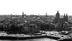 From the TOP TOP! (M.Galvis) Tags: city white black amsterdam canon top bn