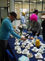 Mad Hatter's Tea-Party - 3 (the justified sinner) Tags: hat cake birmingham panasonic wig 17 20mm teacup madhatter saucer teaparty cityuniversity gx7 schoolofjewellery justifiedsinner samchilton