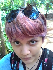 Butterflies (Elisama Oliveira) Tags: flowers me colors pinkhair colorfulhair violethair
