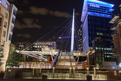Denver_20160711_149 (falconn67) Tags: city longexposure travel bridge art fountain night canon colorado footbridge denver millenniumbridge cablestaybridge 24105l denvermillenniumbridge 5dmarkii