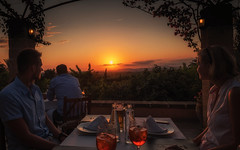 Romantic sunset dinner (Stefan Sellmer) Tags: sunset summer vacation holiday color dinner spain colorful romantic es mallorca spanien balearicislands illesbalears felanitx sonterrassa