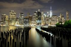 Iconic New York Skyline (macuser2012) Tags: newyork newyorkskyline newyorknight brooklynbridgepark nighttime freedomtower