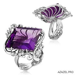 Ring with Amethyst (Azazel.PRO) Tags: instagramapp square squareformat iphoneography uploaded:by=instagram ring  amethyst   diamond       fashion woman stone style jewelry bijouterie jewellery podium gemstone exclusive russia  best     d
