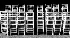 325/365 Preparations (darioseventy) Tags: chairs sedie preparations preparativi wedding matrimonio party festa light luce meadow prato bianconero bn blackanwhite bw