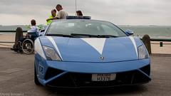 Polizia Stradale Lamborghini Gallardo II (Nicky Boogaard Photography) Tags: zeeland refinery nhv polizia lamborghini volvo eurocopter alouette porsche knrm