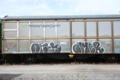 Fr8z & shit (Thomas_Chrome) Tags: graffiti streetart street art spray can illegal vandalism train freight cargo vr moving target object suomi finland europe nordic