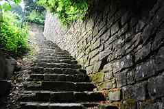 Climbing stone steps in Piran / Slovenia (anji) Tags: slovenia slovenija piran pirano adriaticsea istra istria exyu exyugoslavia southeasteurope
