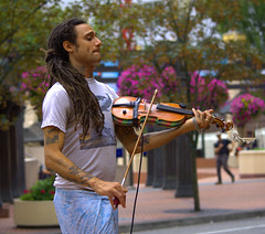 City Life (swong95765) Tags: city musician man entertainment violin sound violinist misic melodies