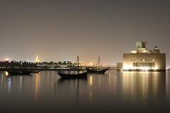 Museum of Islamic Art by night...(1) (John Konstandis) Tags: qatar doha water sea seacoast museum museumofislamicart ship night nightphotography longexposurephotography canoneos5dmarkiii canonef24105mmf4lisusm