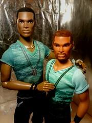 Tariq and Darius (krixxxmonroe) Tags: ira d ryan photography krixx monroe styling ooak custom integrity toys fashion royalty tariq darius reid handsome black brown aa male doll models